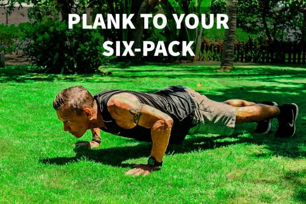 Demonstrating how to plank