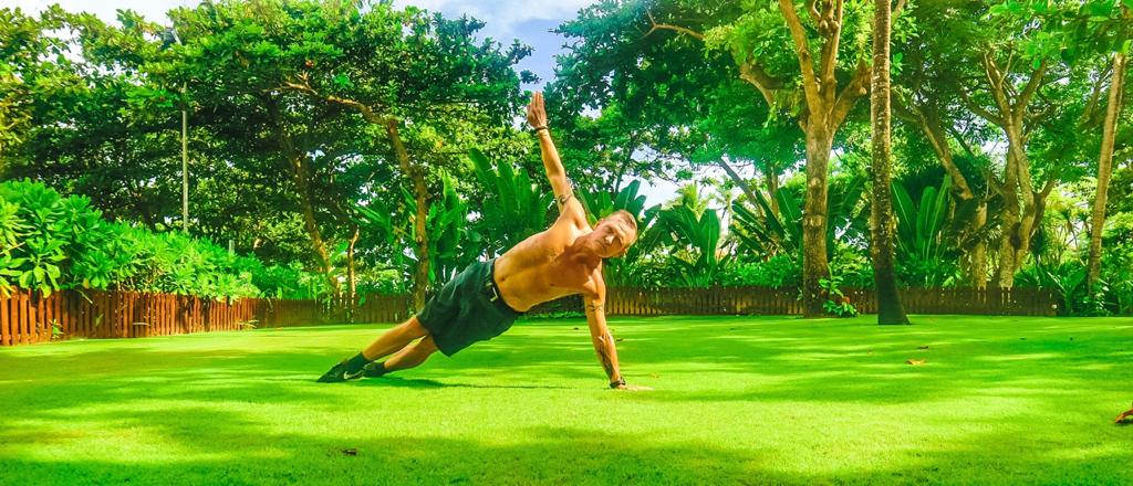 The Handstand Plank, great for Shoulder and Core Strength.