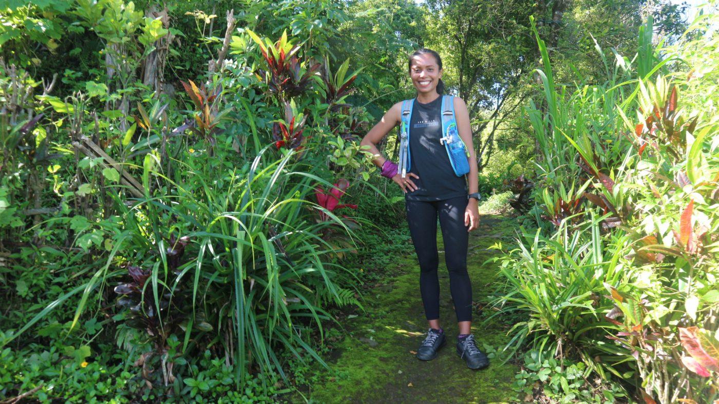 Trekking in the Munduk forest.