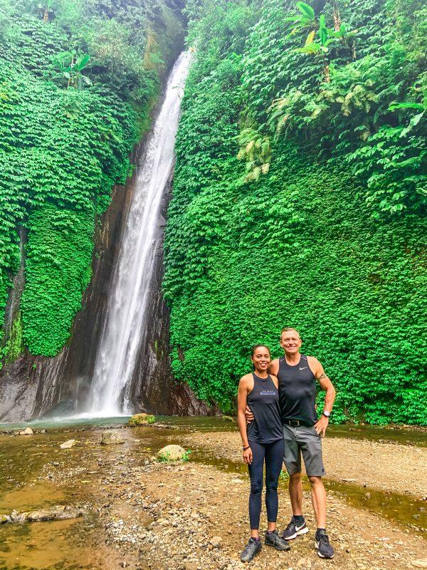 Waterfall Trek, enjoying the waterfall in Munduk, Bali.