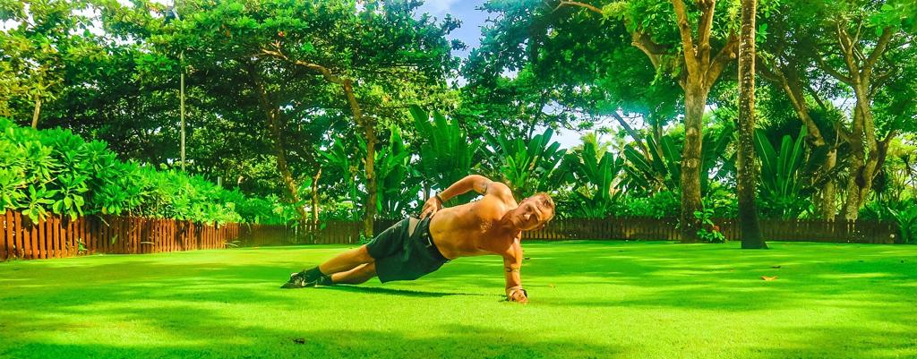 The Side Elbow Plank, Targets your Core sides.