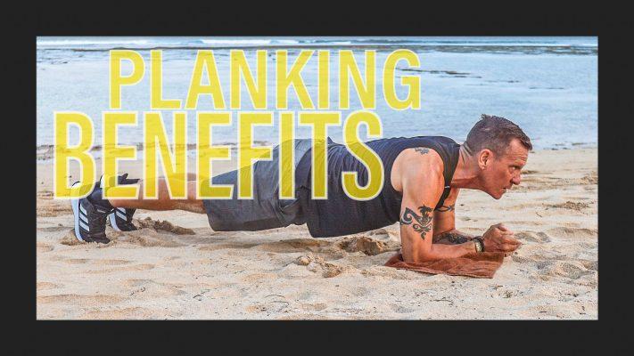 Planking on the beach