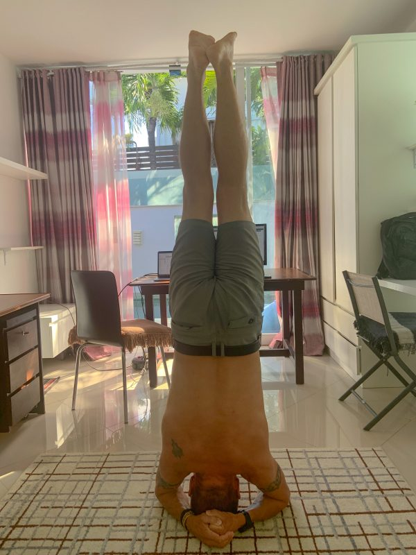 headstand in the office
